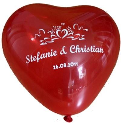 """100 bedruckte Herzballons """"Echte Liebe"""""""