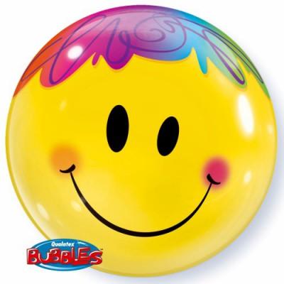 BUBBLE Ballon Smile Face Ø 56cm