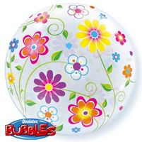 BUBBLE Ballon Blumen Ø 56cm