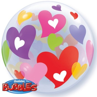 BUBBLE Ballon Herzen Ø 56cm