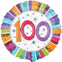 Folienballon 100 Regenbogen Ø 45cm