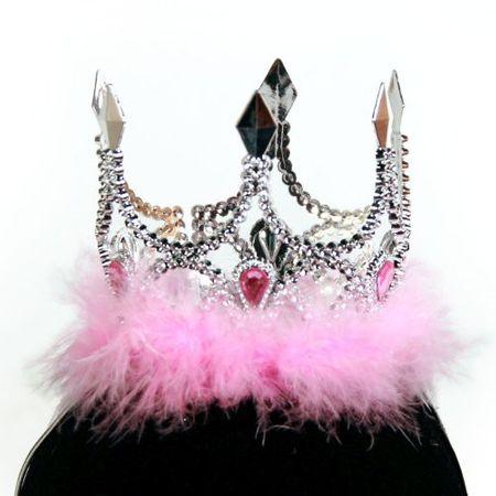 Krone silber rosa Prinzessin