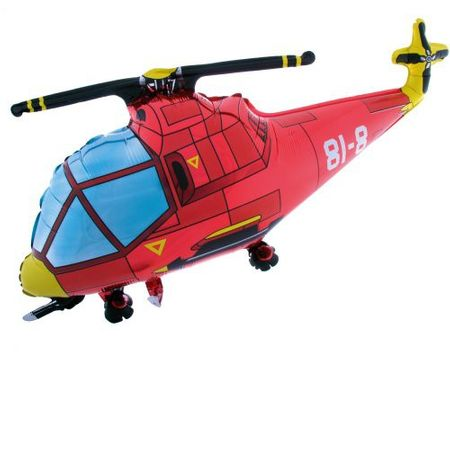 1 Folienfigur Helikopter Ø 98 cm