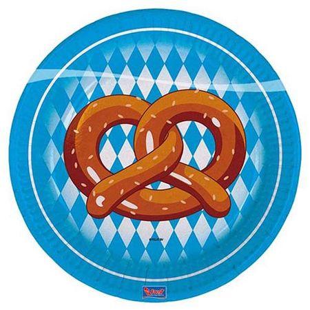 Teller Brezel Oktoberfest 8 Stk.