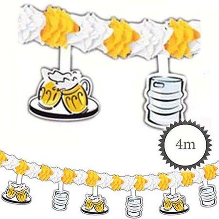 Girlande mit Aufhänger Bierkrug Fass 4m