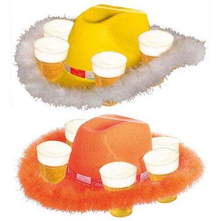 Bier Hut mit Pelz für 6 Becher