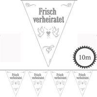 Wimpelkette Frisch verheiratet 10m