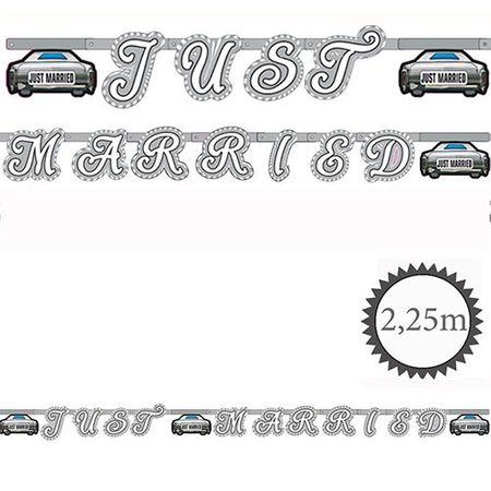 Grußkette Just Married Auto 2,25m