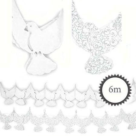 Papier Girlande Tauben 6m