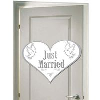 Dekoschild Just Married Herzform 47cm